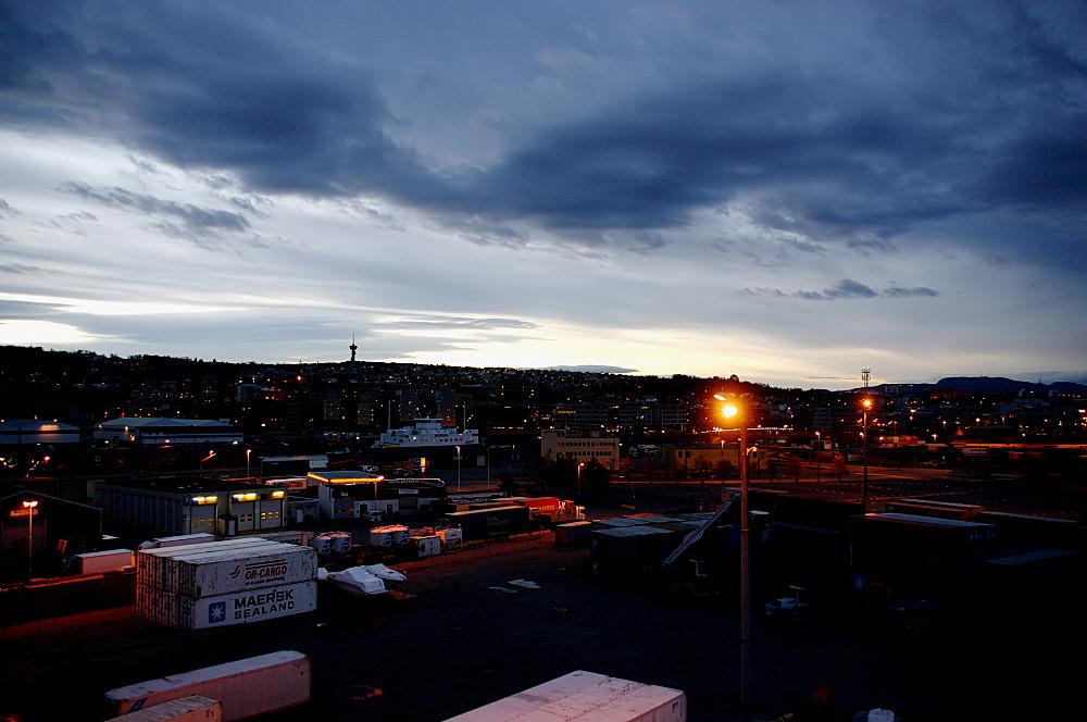 Morgens im Hafen von Trondheim