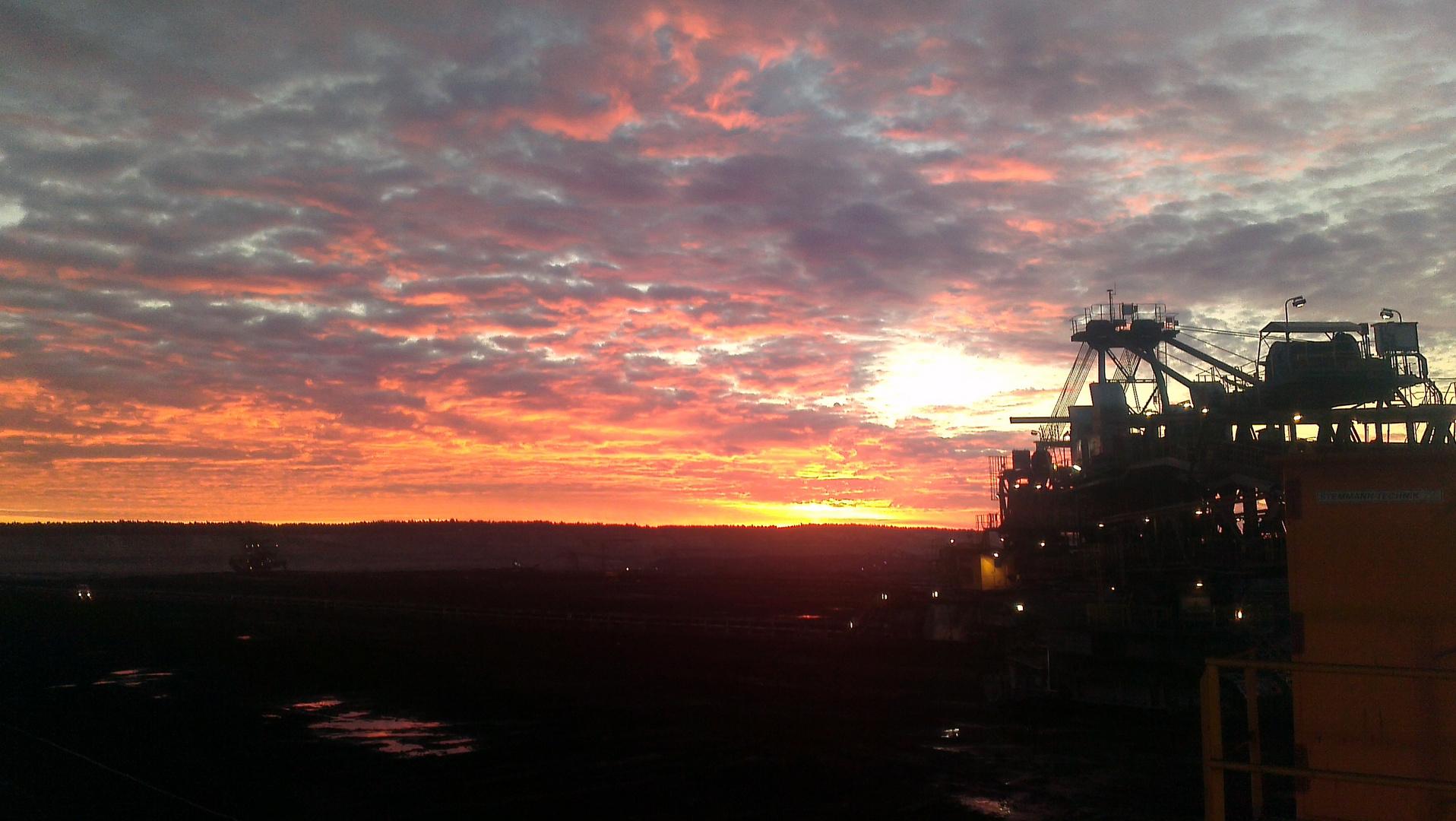 morgens im Tagebau