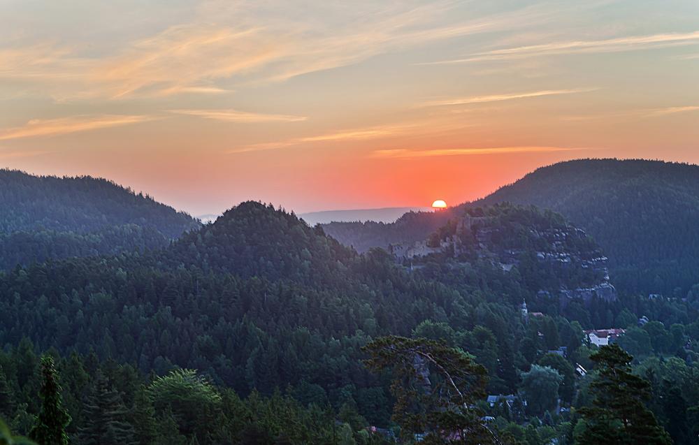 Morgens im Zittauer Gebirge