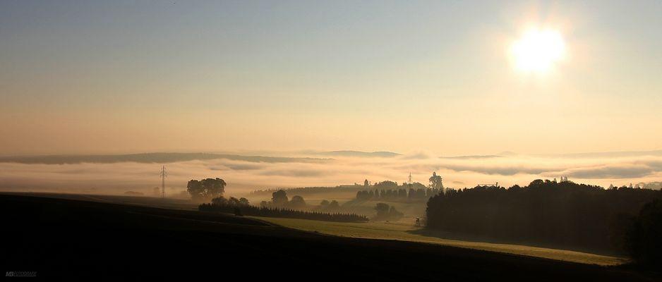 Morgens in der Eifel auf dem Weg zum Ring........