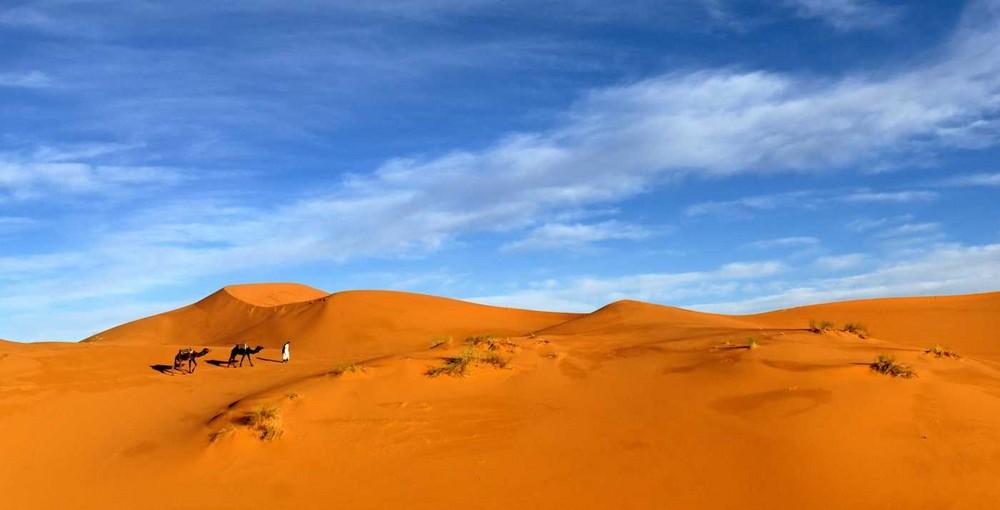 Morgens in der Sahara bei Merzouga