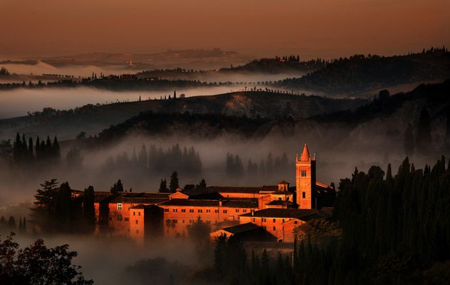 Morgens in der Toscana