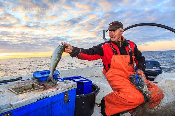 morgens um 5:00 Uhr - unterwegs mit dem Fischer Kaj
