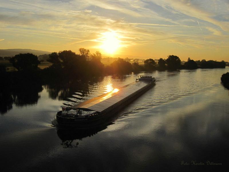 Morgens um 7 an der Donau