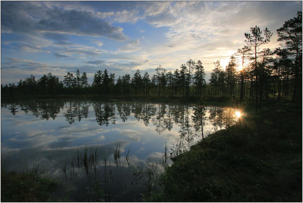 Morgens um fünf an einem See in Mittelschweden