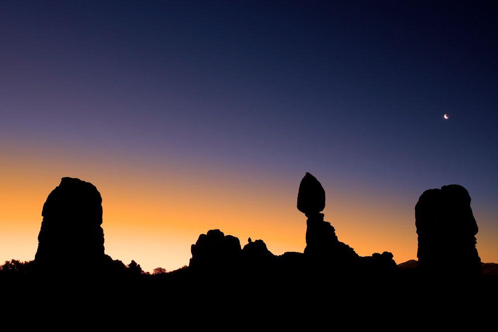 Morgens um halb sechs - Balanced Rock, Arches NP Utah