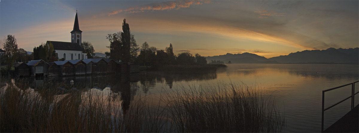 Morgensonne am Zürichsee