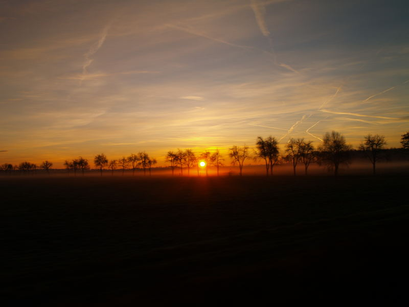 Morgensonne aus dem Intercity