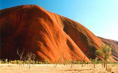 Morgensonne im Dezember- heißes Zentrum Australiens