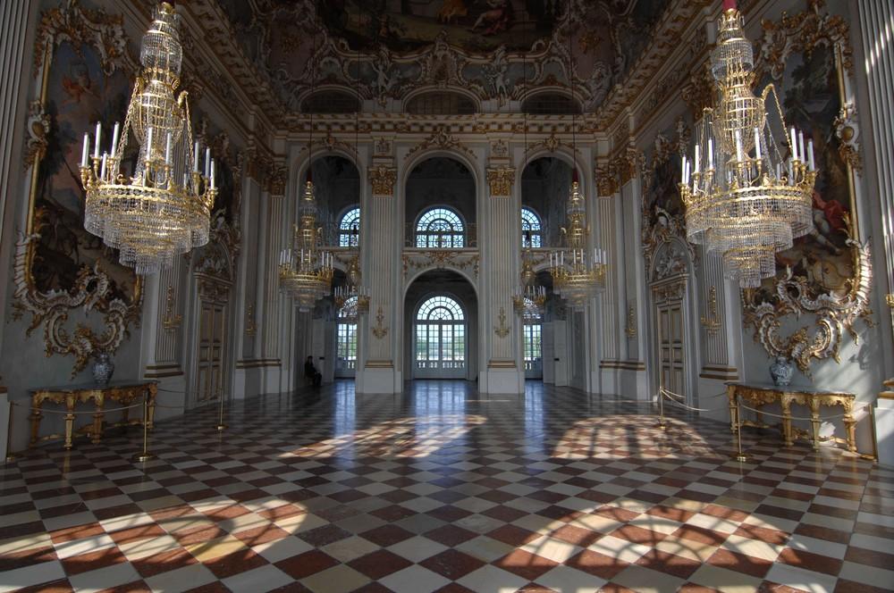 Morgensonne in Schloss Nymphenburg