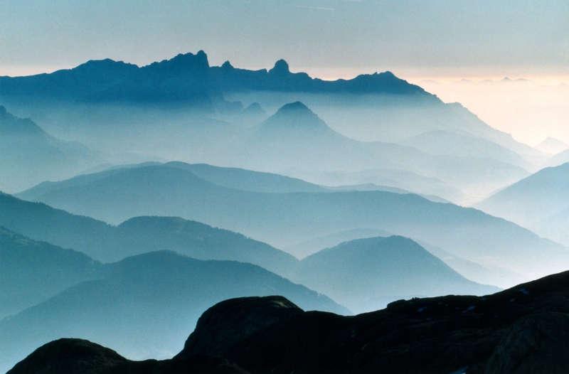 Morgensonne über den Alpen2 Blick zum Dachstein