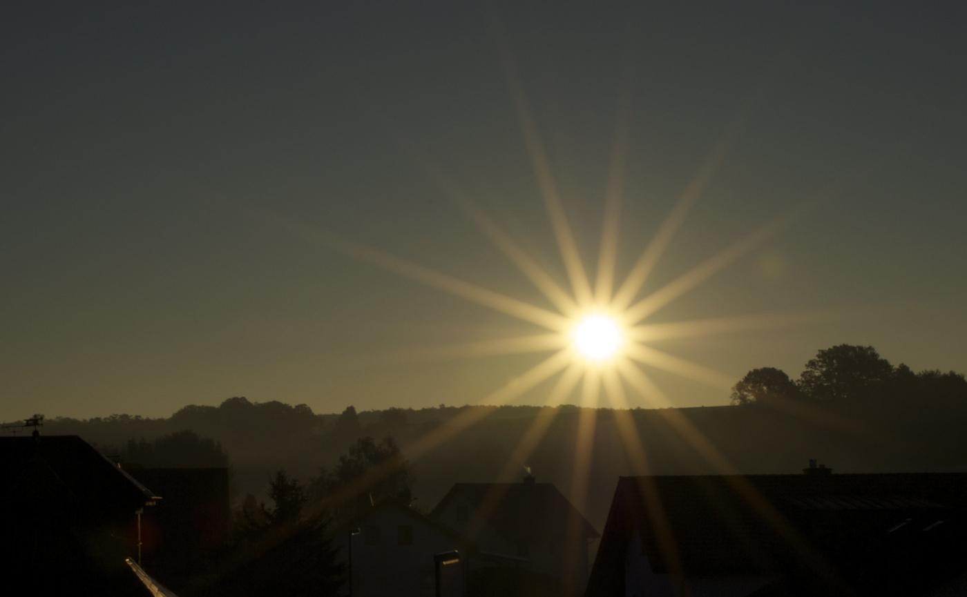 Morgensonnenstrahlen