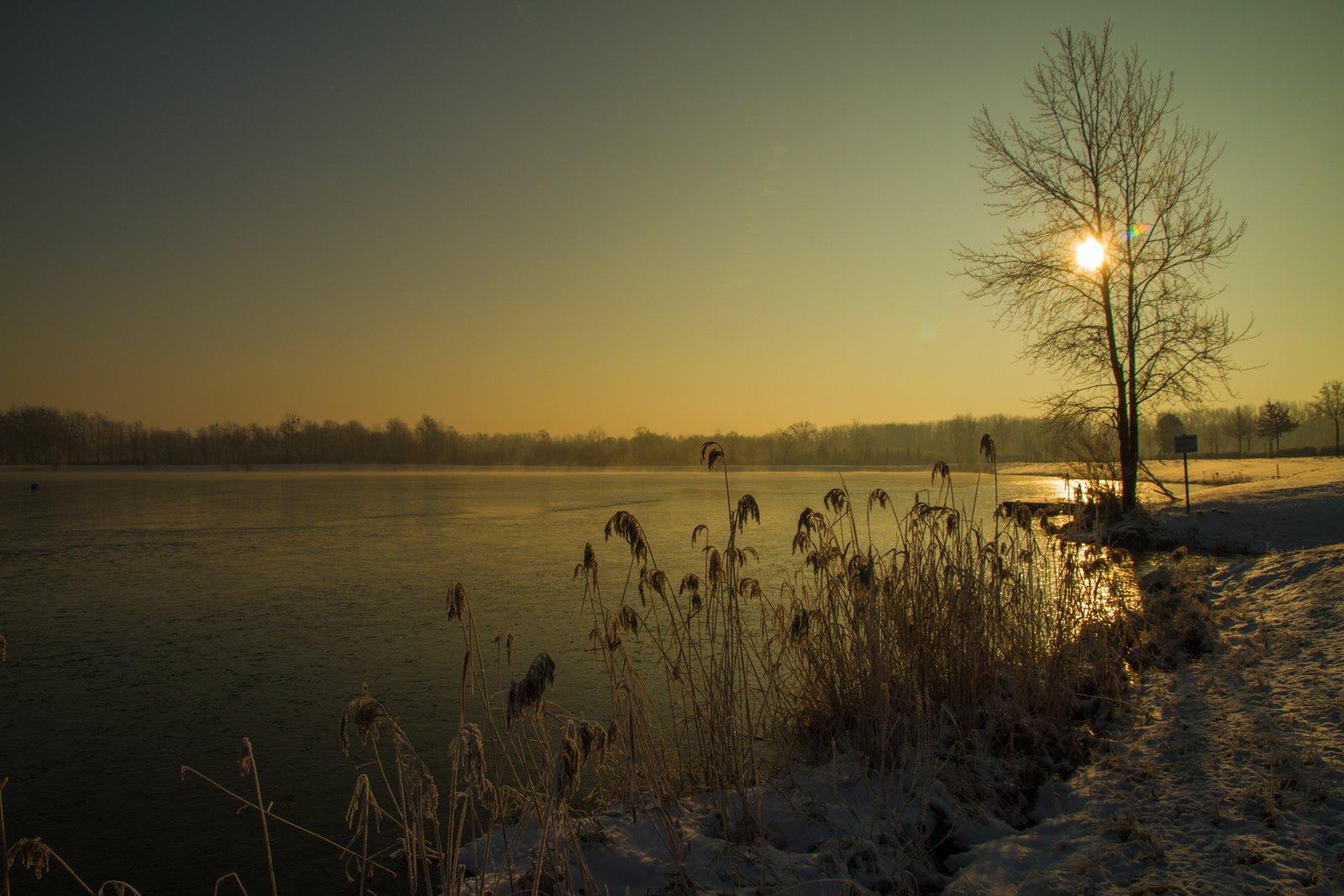 Morgenstimmung am Badesee Feldkirchen