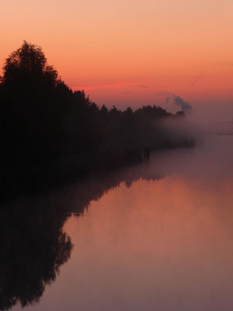 Morgenstimmung am Hamm-Datteln-Kanal.