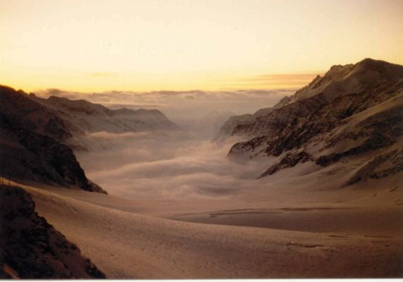Morgenstimmung am Jungfraujoch