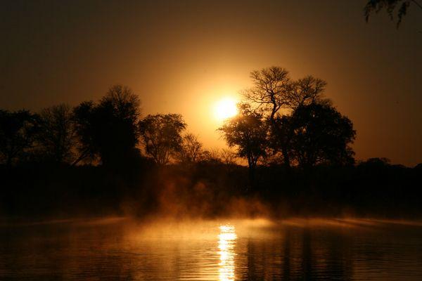 Morgenstimmung am Okavango