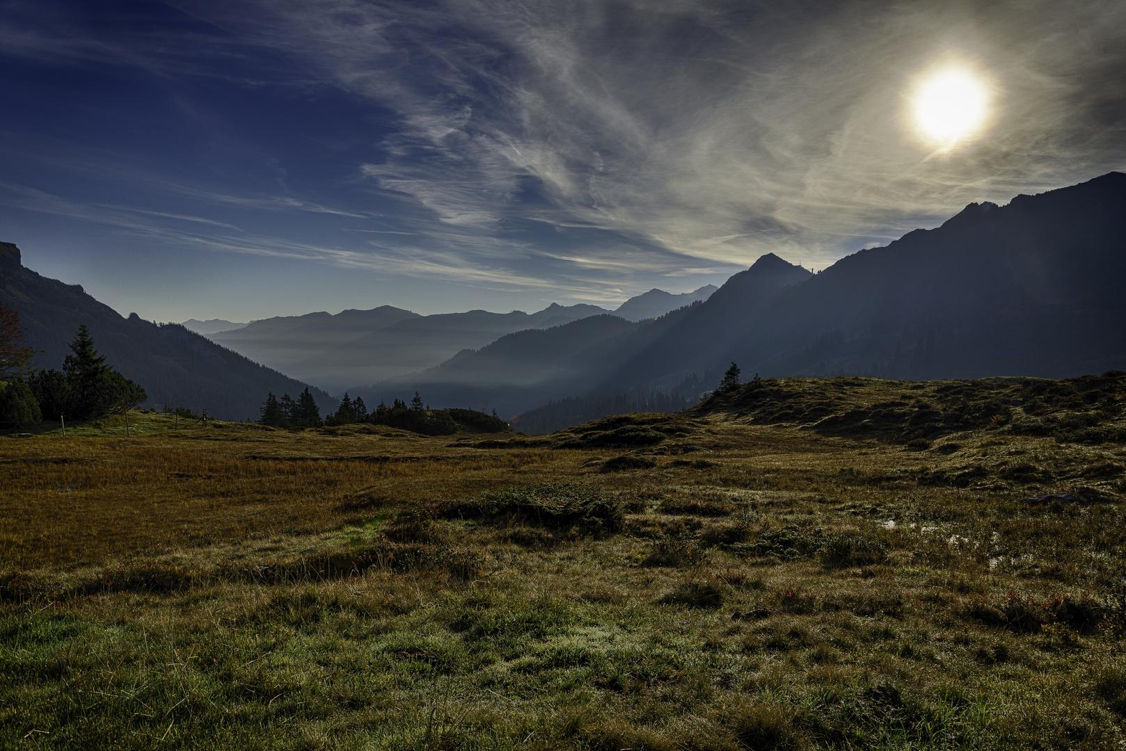 Morgenstimmung an der Schwarzwasserhütte