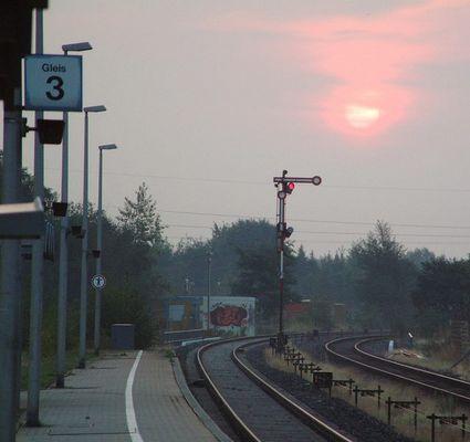 Morgenstimmung an Gleis 3
