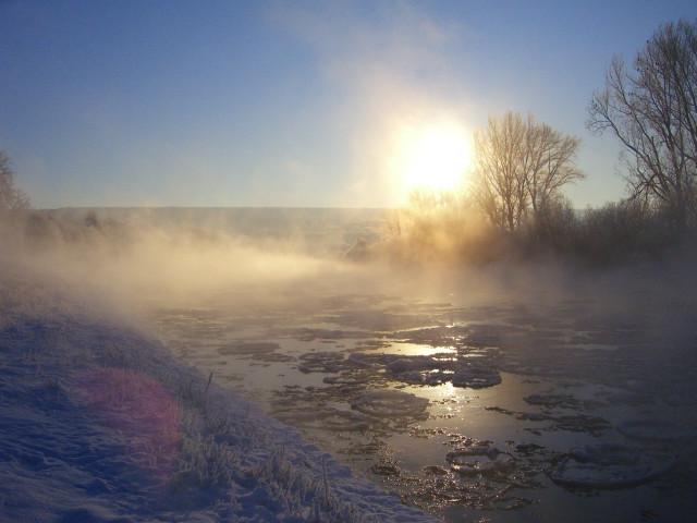Morgenstimmung bei -20 Grad