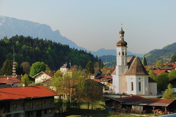 Morgenstimmung im Bergdorf Sachrang / Chiemgau
