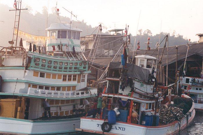 Morgenstimmung im Hafen von Koh Tao/Thailand