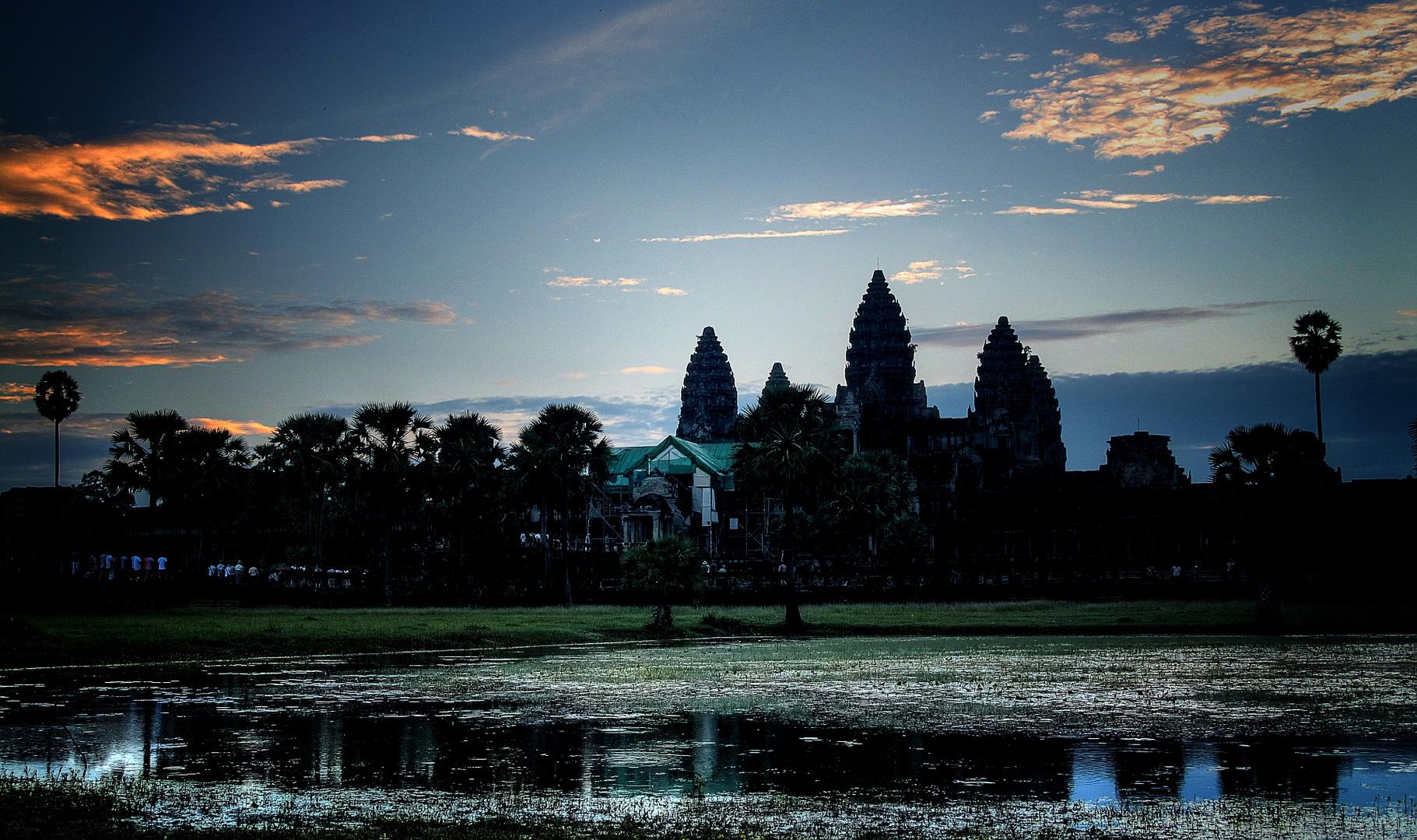 Morgenstimmung in Angkor Wat