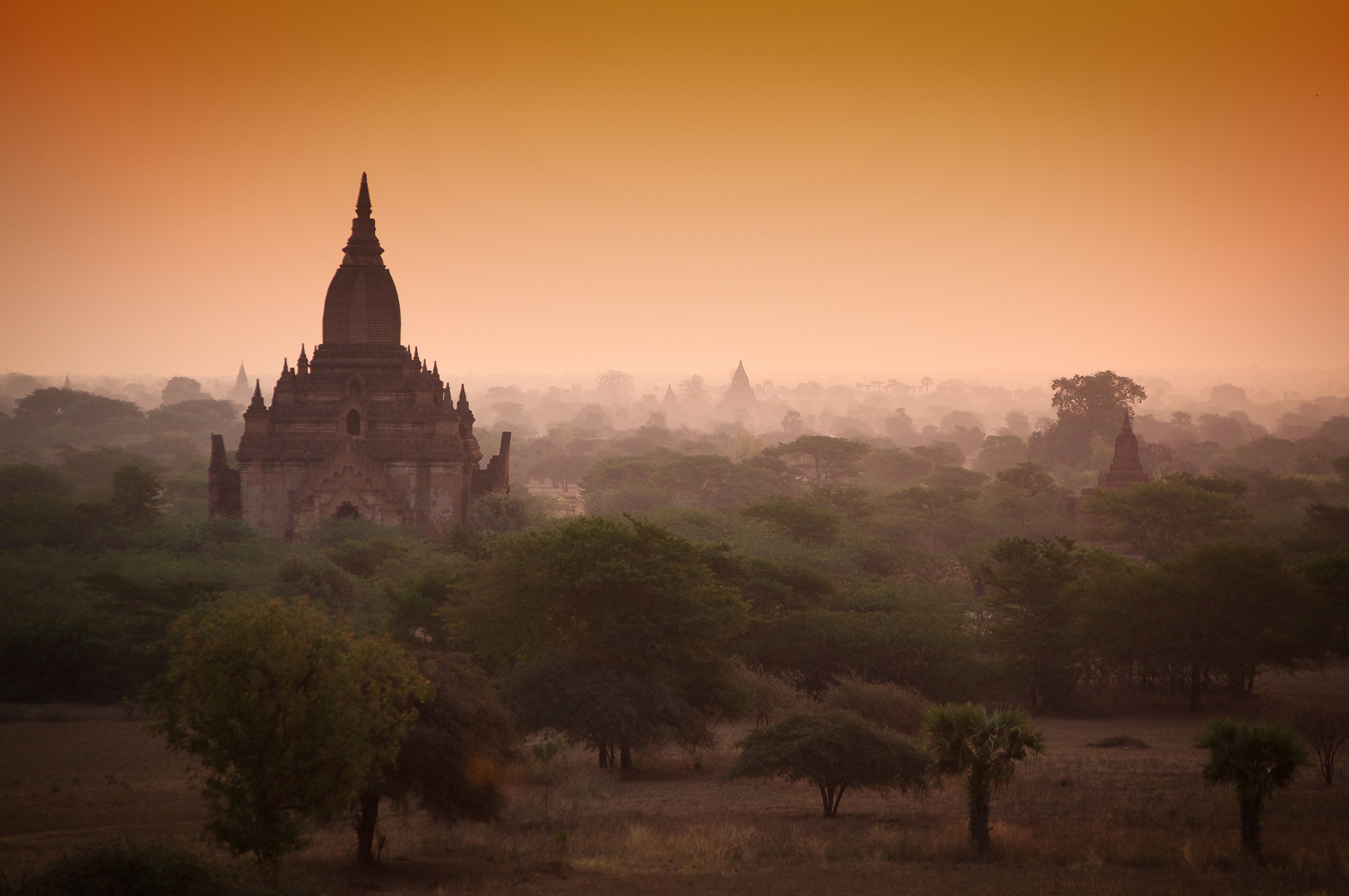 Morgenstimmung in Bagan