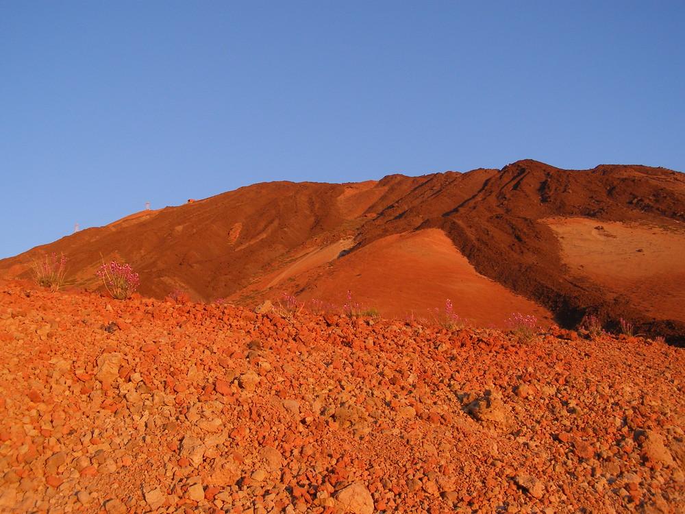 Morgenstimmung in der Nähe der  Huevos del Teide