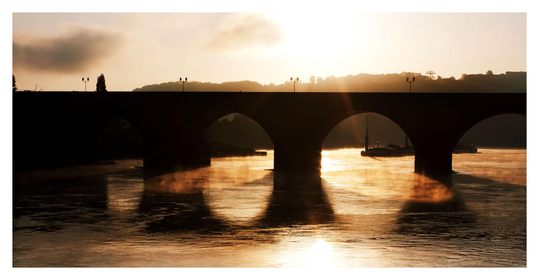 Morgenstimmung in Koblenz