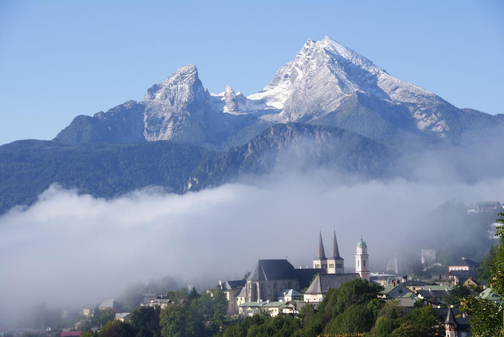 Morgenstimmung mit Blick auf Berchtesgaden