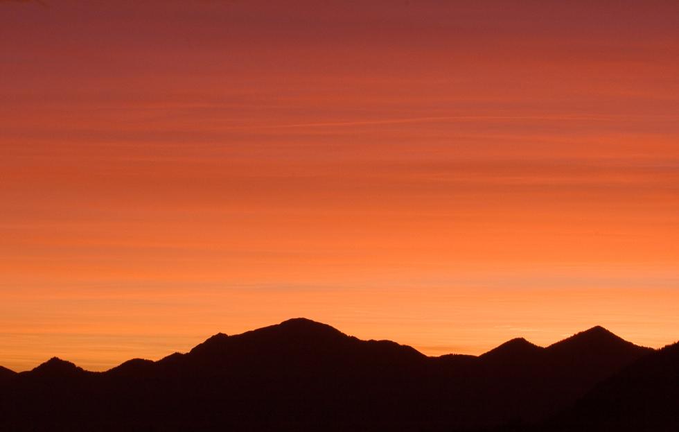 Morgenstimmung über dem Estergebirge