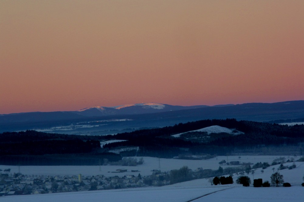 Morgenstimmung über dem Feldberg im Schwarzwald