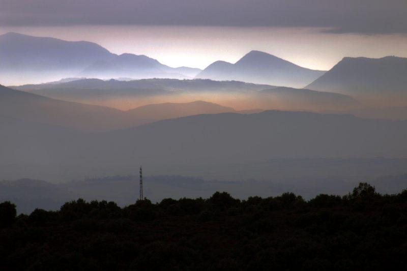 Morgenstimmung über dem Rhone-Tal