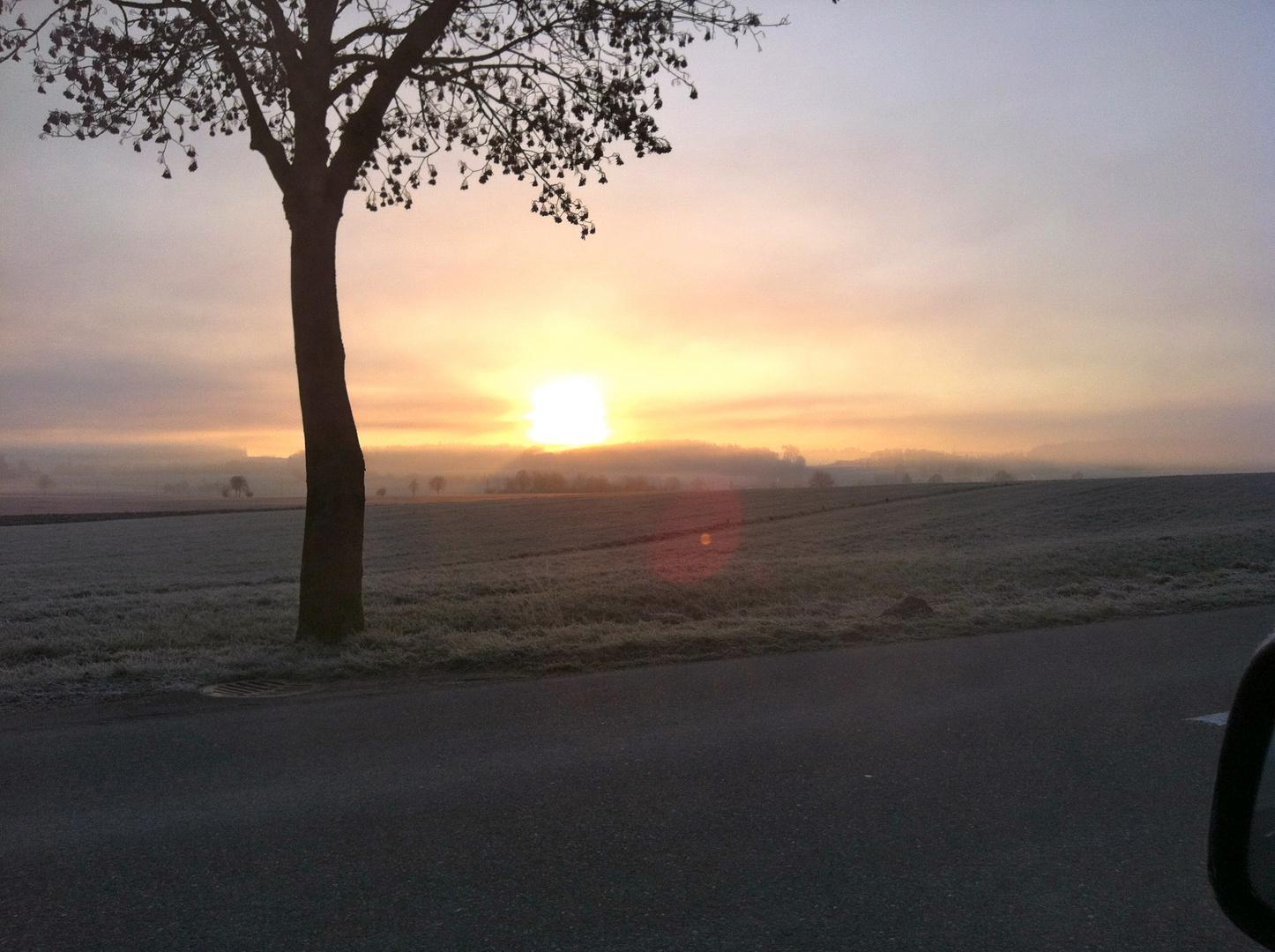 Morgenstunden im Dunst gefunden