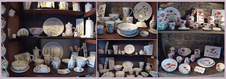 Mornac-sur-Seudre - Dans un atelier de poterie, magasin de vaisselle