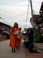 Morning breakfast service for monk