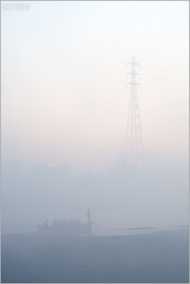 Morningfog at kumbha mela