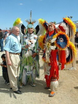 Morongo Anual Pow Wow mit meinem Vater ganz stolz
