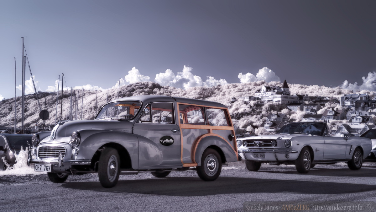 MORRIS MINOR WOODY 1000 and MUSTANG infrared