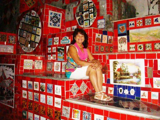 mosaico de azulejos coloridos...