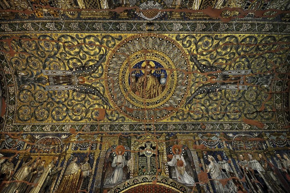 Mosaik Berlin mosaik im deckengewölbe der alten gedächtniskirche berlin foto