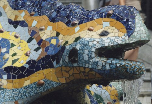 Mosaik Salamander