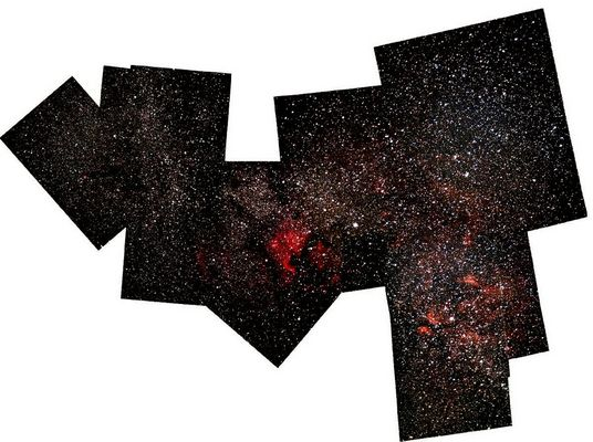 Mosaik vom Sternbild Schwan - unvollendet