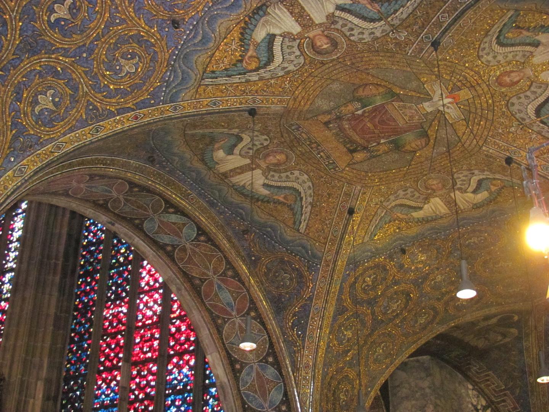 Mosaikdecke im Aachener Dom