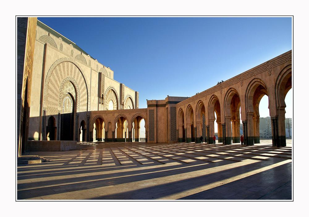Moschee im Morgenlicht