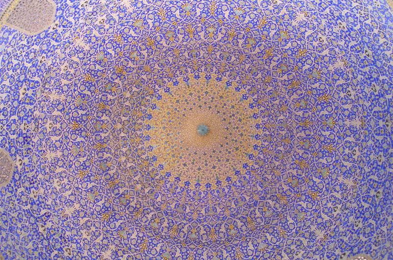 moschee kuppel von innen in isfahan foto bild architektur sakralbauten innenansichten. Black Bedroom Furniture Sets. Home Design Ideas