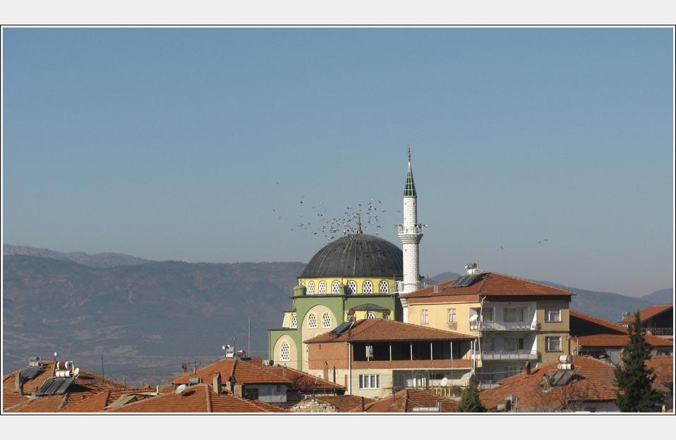 Moschee mit Tauben