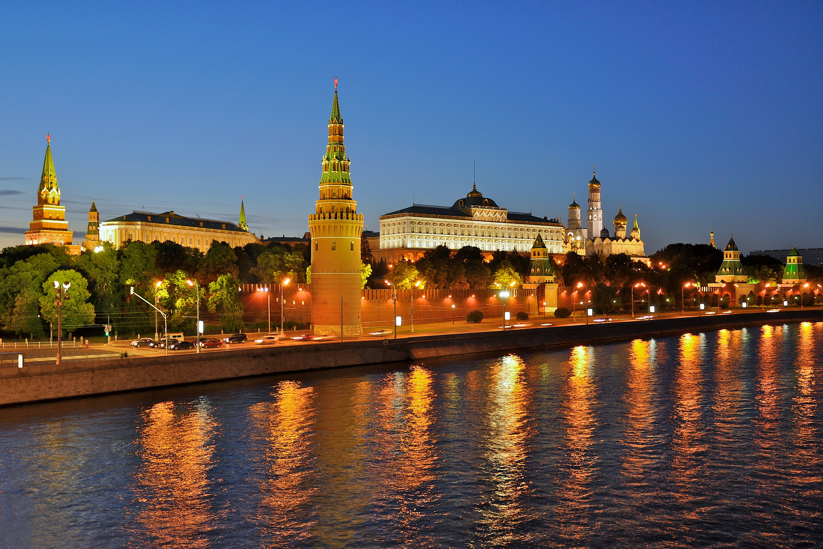 Moscow, Kremlin in the night