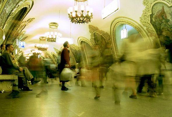 Moscow-Metro,-Kievskaya-station