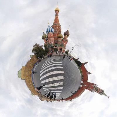 Moskau - Basilika am roten Platz - Kreml